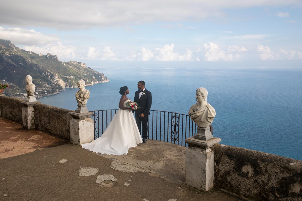Melanie & Donald, Villa Cimbrone, Ravello, Italy